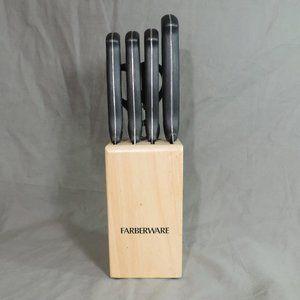 FARBERWARE 6-PIECE KNIFE BLOCK